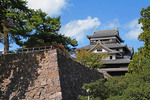 Medieval Matsue Castle near Sakaiminato is feudal castle in original wooden form and not reconstructed.