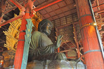 Todai-ji Temple's bronze Buddha called Daibutsu in Nara, Japan.