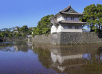 Japanese Imperial Palace moat and guardhouses, Tokyo.