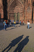 Shadows at the Catherdral of Strasbourg, France.