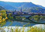 Village on Moselle River in Germany.