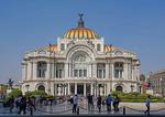 Palacio de Bellas Artes (Fine Arts Palace), art naouveau stule architecture, in Mexico City.