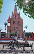 La Parroquia de San Miguel Arcangel cathedral in San Miguel de Allende, Mexico.