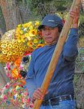 Xochimilco flower vendor