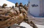 Sculpture at entrance to Live Aqua Urban Resort in San Miguel de Allende, a Fiesta Americana Hotel in Mexico.