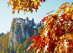 Bled Castle in autumn.