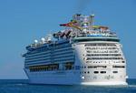 Royal Caribbean's Navigator of the Seas departing Port of Miami.