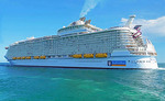 Royal Caribbean's Symphony of the Seas, world's largest cruise ship leaving Port of Miami, Florida.