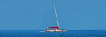 catamaran in a vast blue sea near Key West
