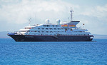 Silver Seas Expeditions 100 passenger cruise ship Silver Galapagos in the Galapagos Islands.