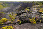 Small inactive volcanic crater of Kilauea active volcano in Volcanoes National Park, Big Island of Hawai'i.