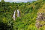 Opaikee Falls on island of Kauai in the Hawaiian islands.