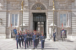Changing of the guards at the Royal Palace, Madrid, Spain.