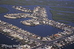 Housing development in saltmarsh; NJ, aerial view