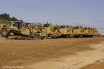 Bulldozers at future development or car raceway; NJ, Millville