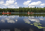 Canoeists, Cranberry Lake, Adirondack Park, NY