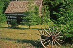 Cabin with broken wheel, Door County, Wisconsin