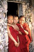 Novice Monks at Shwenandaw Monastery, Mandalay, Burma (Myanmar)