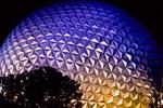 Spaceship Earth at Night, Epcot Center, Orlando, Florida