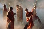 Monks & Brooms, Shan Monastery, Myanmar (Burma)
