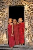 Young monks at Golden Palace, Mandalay, Myanmar (Burma)