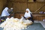 Spinning Wool in Antalya, Turkey
