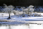 Winter on Wisconsin River, Prairie du Chien, Wisconsin