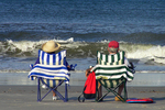 Couple in Chairs on Beach, St. Augustine, Florida