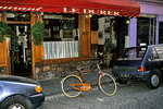 Bike at French Cafe, Montmartre, Paris, France