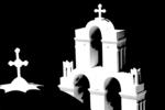 Santorini Church Silhouette, Greece