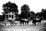 Stagecoach &amp; Horses Silhouette, Wade House, Wisconsin Historic Site, Greenbush, Wisconsin