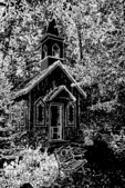 Chapel in the Woods Silhouette, Waupaca, Wisconsin