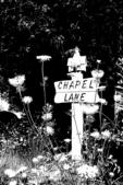 Chapel Lane Sign Silhouette, Bailey's Harbor, Door County, Wisconsin