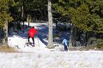 Cross Country Skier and Son, Door County, Wisconsin