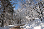 Snowy Road in Winter, Appleton, Wisconsin
