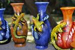 Mexican vases in Market, Puerto Vallarta, Mexico
