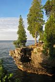 Cave Point & Trees, Lake Michigan, Door County, Wisconsin