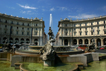 Rome Fountain in City Square, Italy