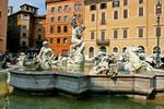 Piazza Navona & Neptune Fountain, Rome, Italy