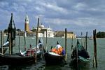 Saint Giorgio Maggiore & Gondolas, Venice, Italy