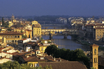 Early Morning by Arno River in Florence, Italy