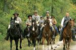 Confederate Horsemen, Civil War Re-enactment, Wade House, Wisconsin Historic Site, Greenbush, Wisconsin