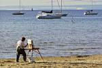 Painter & Boats, Ephraim, Door County, Wisconsin