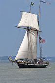 Royaliste Topsail Ketch with Sails, Green Bay, Wisconsin