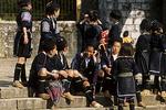 Black Hmong Women in Town, Sa Pa, Vietnam
