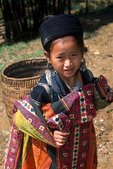 Black Hmong Girl Selling Embroidery, Sa Pa, Vietnam