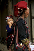 Red Zao Mother and Baby, Sa Pa, Vietnam