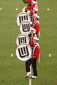University of Wisconsin Marching Band Drummers, Camp Randall Football, Madison, Wisconsin