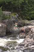 Swimming at the Dells of the Eau Claire River, Wisconsin