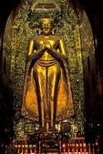 Ananda Tahto temple and buddha statue, Bagan, Burma, Myanmar